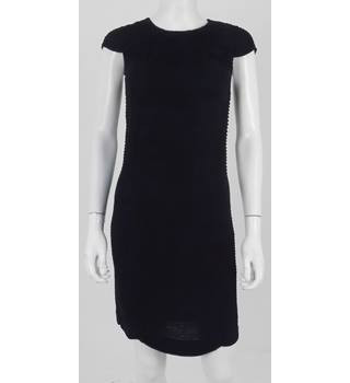 French Connection Black Pleated Cap Sleeve Dress Size 6