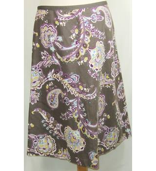 Laura Ashley Size 12 Taupe Linen Mix Skirt