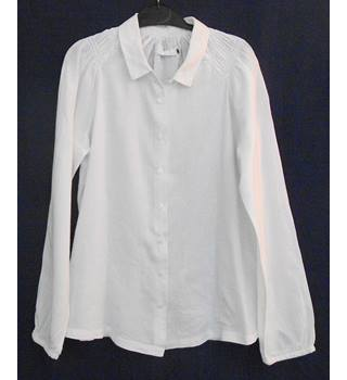 John Lewis Weekend Collection long sleeved white blouse  Size 8