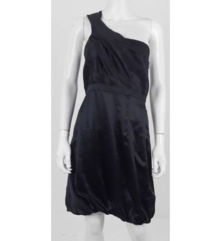 AX Armani Exchange Black Silk off one shoulder Party Cocktail Dress Size Small