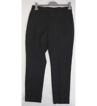 "Asos Size: S, 30"" waist, 26"" inside leg, tailored fit Black Smart/Stylish Wool Flat Front Trousers"