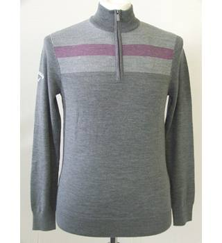 CALLAWAY Men's Sportswear -  Thermal Insulation Zipped Turtleneck pullover Callaway - Grey