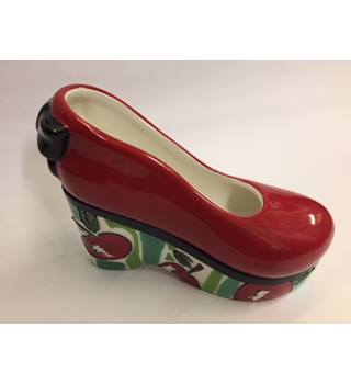 Ceramic Shoe-shaped Trinket Box