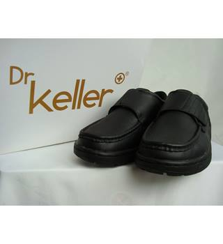 BNIB Dr Keller Texas Black Leather Shoes - size 8