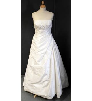 Tia by Benjamin Roberts - size 8, ivory strapless wedding dress