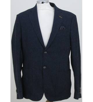 "Jeff Banks Stvdio - Size: 40"" chest - Blue with left pocket and speckled effect jacket"
