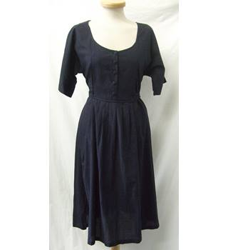 Toast - Size: 10 - Navy Blue - Knee length dress
