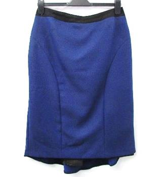South - Size: 12 - Azure Blue and Black - Calf length skirt