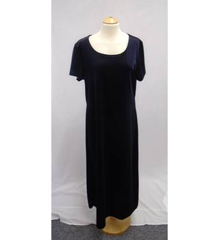 Sara Neal - Size 18 - Navy Blue Velvet Evening Occasion Dress