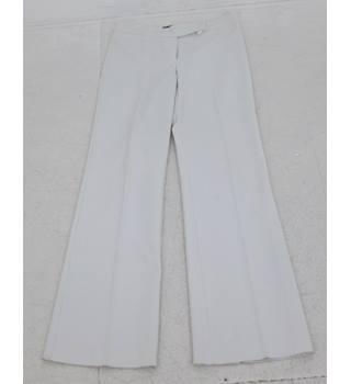 River Island: Size 12L: Ivory glitter wide leg trousers