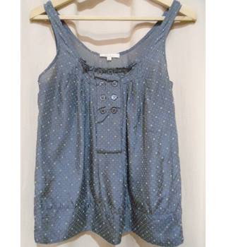"Sandro -Size 28"" chest (Brand size 2) - grey patterned - sleeveless top"