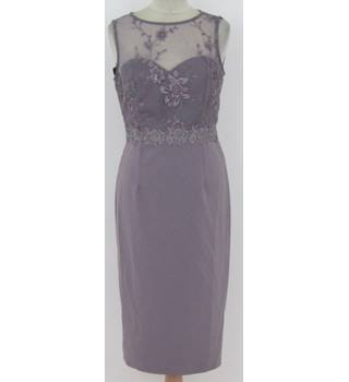 Little Mistress - Size 10 - Lilac with lace top and embroidered waist sleeveless dress