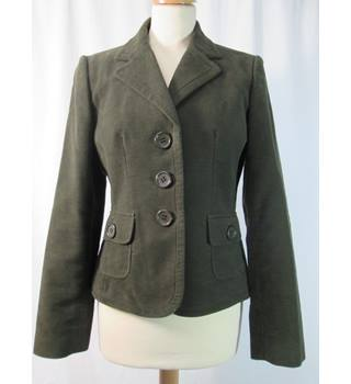 Next - Size: 8 - Olive Green - Fitted Velvet Jacket
