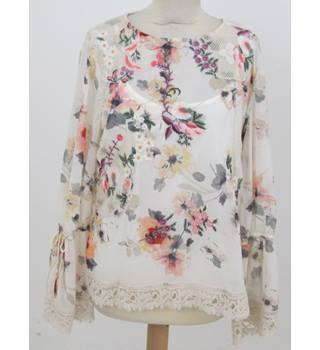 NWOT Per Una - Size: 16 - Pink floral embroidered top
