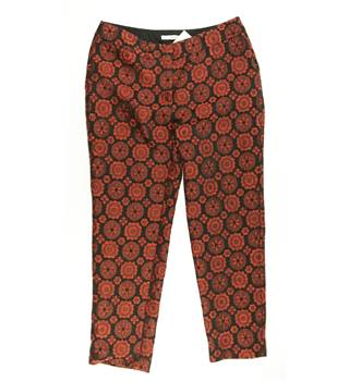 Boden - Size 8R - Red and black abstract pattern trousers