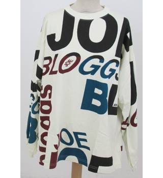 Joe Bloggs - Size: One size: regular - Cream with Branded Pattern Sweatshirt
