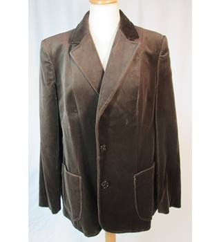 Vintage 1970s M&S St Michael - Size: 16 - Dark Brown Velvet - Jacket