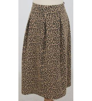 NWOT M&S Collection, size 14 beige leopard spot print skirt