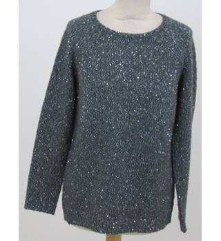 Whistles - Size: 6 - Grey sequin sweater