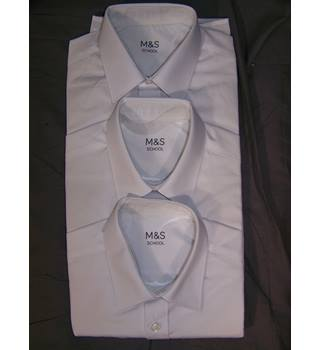 BNWOT M&S Marks & Spencer - Size: 11 - 12 Years - White - Short sleeved