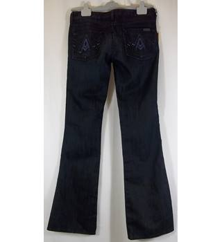 BNWT - 7 for all mankind - Size:10-12 UK - Blue - Jeans with Crystals