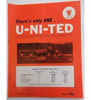 1974-75 There's Only One U-Ni-Ted, Volume 6, Number 3. Official Newsletter of the Manchester united supporters club
