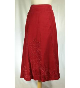 NWOT Per Una - Size: 16L - Red - Calf Length Skirt