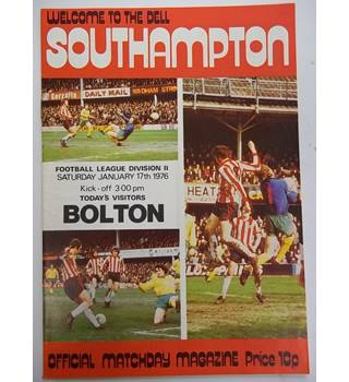 Southampton v Bolton. 17th January 1976. Football League Division II