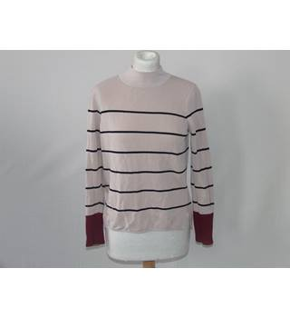 Warehouse Womens Beige and Tan Jumper, Long Sleeved Turtleneck Size 8 Warehouse - Size: 8 - Multi-coloured - Jumper