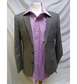 River Island - Size 38R/30W - Grey - Single breasted suit
