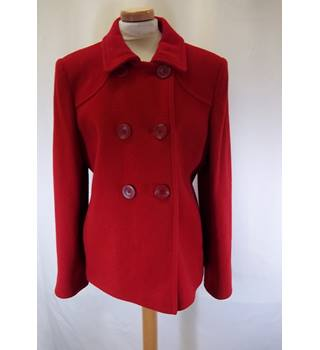 Laura Ashley - Size: 16 - Red -Double Breasted Coat