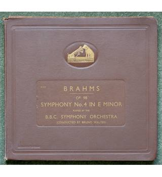 Brahms Op. 98 Symphony No. 4 in E Minor – BBC Symphony Orchestra conducted by Bruno Walter Brahms, Johannes - D.B.2253-2257