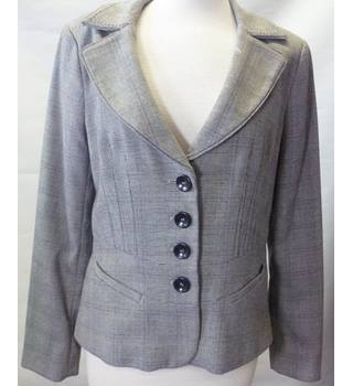 Next size 10 R Grey Chequered Ladies Suit