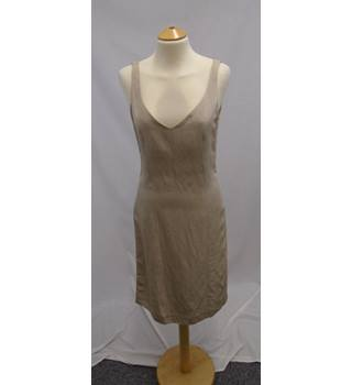 Jigsaw - Size 8 - Beige Oyster Linen Mix - Evening Occasion Dress