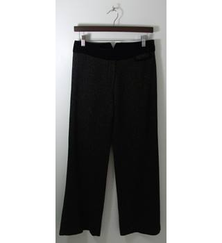 Whistles  Black Tweed Straight Leg Trousers UK Size 8 / Euro Size 36