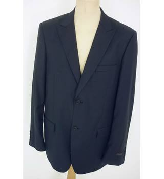 "BNWoT Calvin Klein Size: L, 44"" chest, tailored fit Dark Blue With Fine Pinstripe Stylish Wool Designer Single Breasted Jacket"