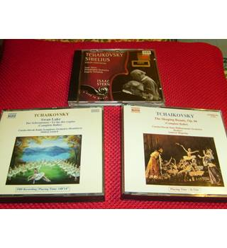 Tchaikovsky & Sibelius Violin Concertos Stern, Ormandy, Philadelphia, Sony SMK 66829 CD + Swan Lake, Sleeping Beauty Naxos sets