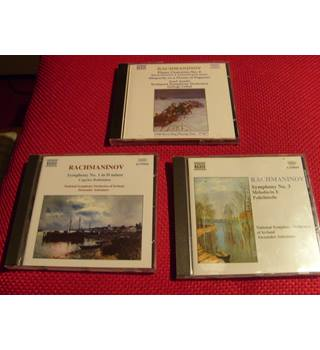 Rachmaninov 2nd Piano Concerto, Symphonies 1 & 3, Paganini Rhapsody etc on 3 Naxos CDs