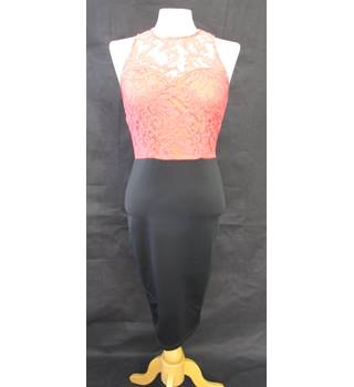 Coral lace and tight black - Ax - Size: 10 - Multi-coloured - Sleeveless
