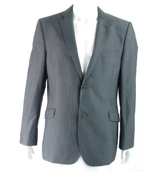 Ted Baker Endurance - Size: 44R - Stone Grey - 100% wool - Single breasted suit jacket