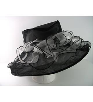Marks Spencer Black Wedding Special Occasion Hat