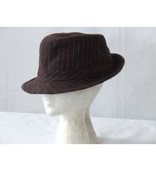 Men's Trilby Hat - one size Unbranded - Size: One size - Brown - Trilby