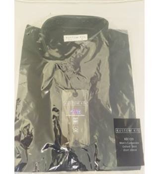 Brand New - Kustom Kit Short Sleeved Black Oxford Shirt-  Size: L