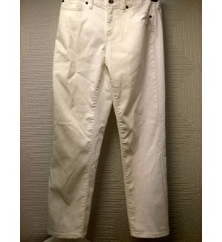 "Ladies Lands End White Jeans size 8 Size: 26"" - White"