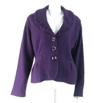 Jeff Banks - Size: 14  M - Purple - Jacket