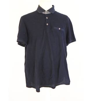 Thin navy polo shirt Ted Baker - Size: M - Blue - Polo shirt