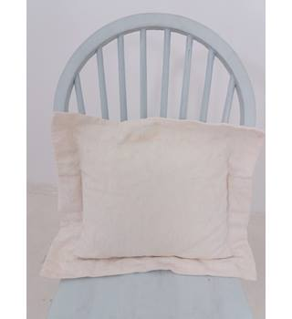 St Michael White & Cream Flower Sham Cushion