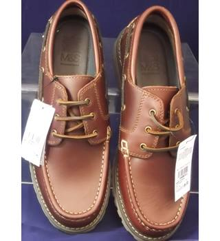 BNWOT M&S Marks & Spencer - Size: 11 - Brown - Lace-ups