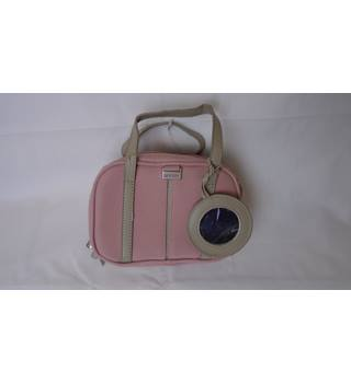 PINK SUEDE ANTLER MAKEUP / TOILETRIES BAG Antler - Size: Not specified - Pink - Cosmetic bag