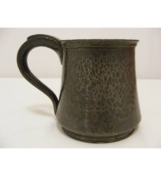 Hammered English Pewter Tankard